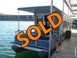 2000 Aqua Chalet 36 Pontoon Houseboat For Sale on Norris Lake TN