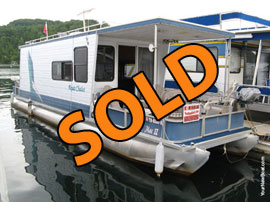 "2000 Aqua Chalet 8'6"" x 36' WB Pontoon Houseboat For Sale"
