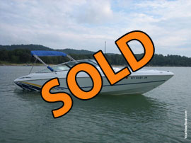 2000 Baja 232 Islander Open Bow Rider Power Boat For Sale on Norris Lake TN