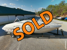 One-Owner 2000 Rinker Captiva 232 Cuddy Cabin Cruiser For Sale on Norris Lake Tennessee!