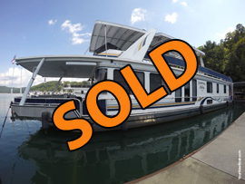 2000 Stardust 16 x 77WB 3 Bedroom Aluminum Hull Houseboat For Sale on Norris Lake at Norris Landing Marina