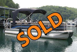 2010 Premier 225 Sunsation LTD PTX Tritoon with 150HP Yamaha Outboard Motor For Sale on Norris Lake TN