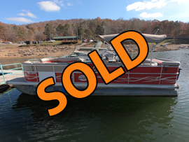 2013 Leisure Craft 242 Pontoon Boat For Sale on Norris Lake Tennessee at Hickory Star Marina