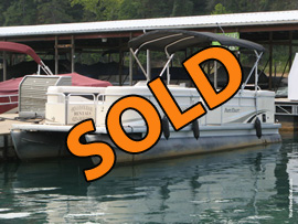 2013 PartiKraft 2486 Pontoon with 115HP Yamaha Outboard Motor For Sale on Norris Lake Tennessee