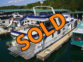 2001 Fantasy 18 x 90WB Custom Houseboat For Sale on Norris Lake Tennessee at Waterside Marina