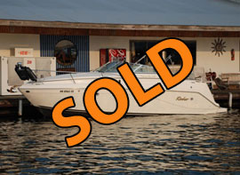 2001 Rinker Fiesta Vee 270 Aft Cabin Cruiser with Generator and Trailer For Sale on Lake Cumberland