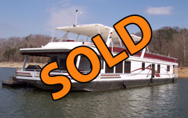 2002 Sumerset 20 x 100WB 4-Bedroom Custom Built Insulated Liveaboard Ready Houseboat For Sale on Norris Lake Tennessee