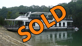 2003 Sharpe 16 x 80WB Insulated Liveaboard Ready Full Time Year Round Living Houseboat For Sale on Norris Lake Tennessee