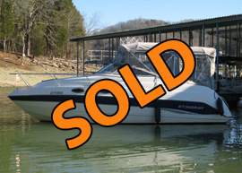2003 Stingray 240CS Cabin Cruiser with Trailer For Sale on Norris Lake Tennessee