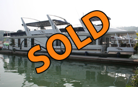 2005 Sunstar 17 x 84 Widebody Houseboat For Sale on Norris Lake Tennessee at Waterside Marina