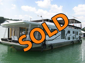 2006 Lakeview 16 x 68WB Houseboat and Dock For Sale on Norris Lake at Flat Hollow Marina