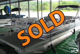 2006 Leisure Kraft Pontune with 90HP Suzuki Four Stroke Outboard Motor For Sale on Norris Lake Tennessee at Waterside Marina