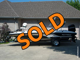 2006 Nitro Fish and Ski 189 Sport with 115HP Tracker Outboard For Sale near Williamsburg KY