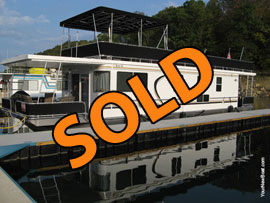 2007 Horizon 14 x 54WB 2 Bedroom Aluminum Hull Houseboat For Sale on Norris Lake TN at Sequoyah Marina