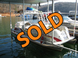 2008 Aloha Paradise 250 Sundeck Pontoon Boat For Sale on Norris Lake