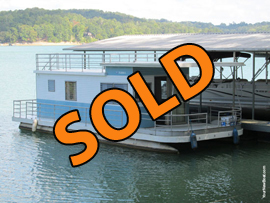 Custom Built Aluminum Pontoon Houseboat For Sale on Norris Lake Tennessee