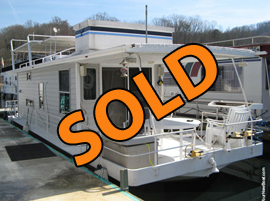 1967 Stardust 11 x 39 Steel Hull Houseboat For Sale on Norris Lake Tennessee