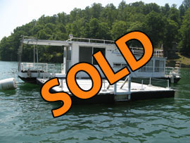 1971 Stardust Cruisers 11 x 40 (Steel) Houseboat For Sale on Norris Lake Tennessee