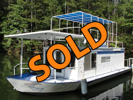 1971 Stardust 11 x 36 (Steel) Houseboat For Sale on the Tennessee River