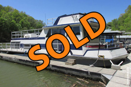 1972 Nautaline 14 x 43 Fiberglass Houseboat For Sale on Lake Cumberland Kentucky