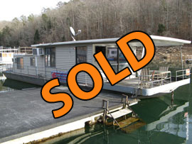 1972 Stardust Cruiser 15 x 50 Steel Hull Houseboat For Sale on Norris Lake Tennessee