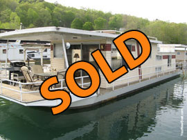 1974 Sumerset 14 x 56 (Steel) Houseboat, Dock, and 1988 Suntracker 20 foot pontoon boat for sale on Norris Lake in East TN