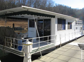 1976 CaptainsCraft 12 x 48 Steel Hull Houseboat For Sale on Norris Lake TN