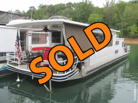 1978 Sumerset 12 x 45 Steel Hull Houseboat For Sale on Norris Lake at Sugar Hollow Marina