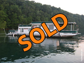 1979 Jamestowner 13 x 56 Steel Hull Houseboat For Sale on Norris Lake