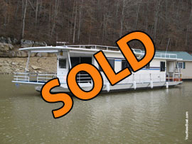 1981 Jamestowner 14 x 60 (Steel Hull) Houseboat For Sale on Norris Lake TN