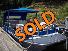 1987 CarolinaKentucky Custom Built 26' Pontoon Boat For Sale on Lake Cumberland KY