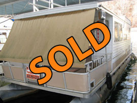 1987 Crest 10 x 35 Pontoon Houseboat For Sale on Norris Lake TN