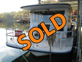 1987 Gibson 12 x 36 Fiberglass Hull Houseboat For Sale on Norris Lake Tennessee