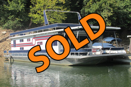 1988 Jamestowner 16 x 64 Aluminum Hull Houseboat For Sale on Lake Cumberland Ky at Somerset Boat Club