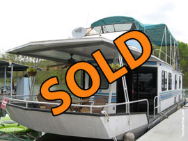 1990 Seabreeze 14 x 54WB Aluminum Houseboat For Sale on Norris Lake in Tennessee