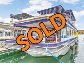 1990 Stardust 16 x 62 Aluminum Hull Houseboat For Sale on Norris Lake TN at Waterside Marina