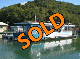 1993 SolidCraft Aluminum Hull Houseboat For Sale on Lake Norris TN