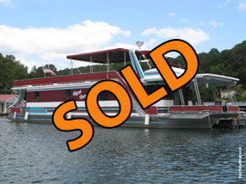 1995 Lakeview 15 x 68 WB Houseboat For Sale on Norris Lake TN