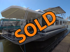 1996 Lakeview 16 x 68 WB 4 Bedroom 2 Bath Houseboat For Sale at Waterside Marina on Norris Lake Tennessee