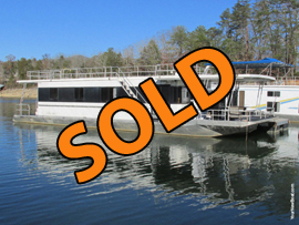 1997 Jamestowner 16 x 60WB Aluminum Hull Project Houseboat For Sale on Norris Lake Tennessee