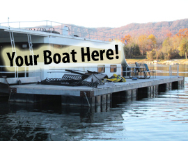 12 x 60 Dock For Sale on Norris Lake Tennessee with View of Cumberland Plateau