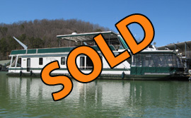 1998 Stardust 16 x 78WB 4 Bedroom Houseboat For Sale at Shanghai Resort on Norris Lake TN
