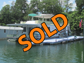 1999 Aqua Chalet 16 x 68WB Houseboat For Sale on Norris Lake TN at Powell Valley Marina and Resort with Dock and Shore Power Cable Available for Additional Purchase