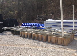 Float-Air Boat Lift Front Mount Pontoon Lift For Sale on Norris Lake TN
