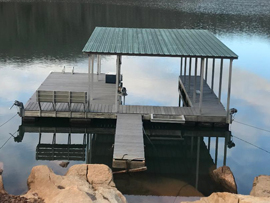 26 x 26 Boat Dock with Covered 10 x 21 Boat Slip and Swim Ladder For Sale on Norris Lake TN
