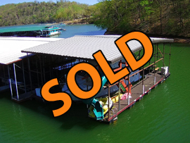 29 x 50 Dock with 16 x 42 Covered Slip For Sale on Norris Lake Tennessee at Twin Cove Marina