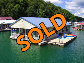 26 x 45 Floating Cabin Approx 1170sqft 3 Bedroom 2 Bath with Shore Power and Rental Income Available For Sale on Norris Lake Tennessee at Whitman Hollow Marina