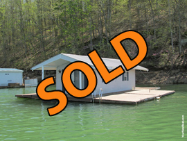 12 x 27 Floating Cabin (Approx 324sqft) For Sale on Norris Lake TN at Sequoyah Marina