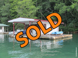 13 x 23 Primitive Floating Cabin (Approx 300sqft) For Sale on Norris Lake Tennessee at Sequoyah Marina