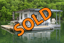 14 x 16 Floating 4-B Registered Cottage For Sale on Norris Lake TN at Hickory Star Marina